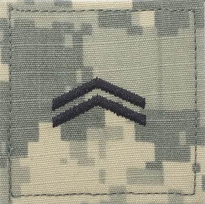 E4 ROTC Corporal ACU Rank with Hook Fastener - Insignia Depot