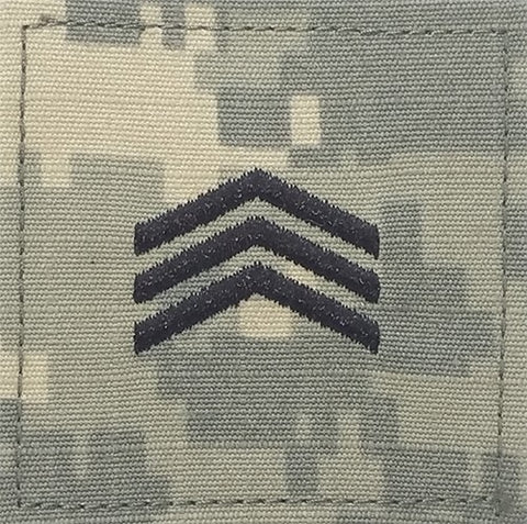 E5 ROTC Sergeant ACU Rank with Hook Fastener - Insignia Depot
