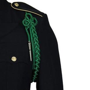 Army Kelly Green Shoulder Cord with Silver Tip - Insignia Depot