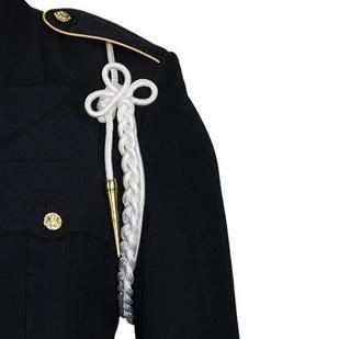 Army White Shoulder Cord with Brass Tip - Insignia Depot