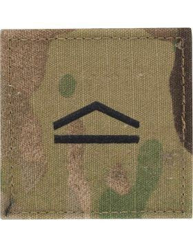 E3 ROTC Private OCP Rank with Hook Fastener - Insignia Depot