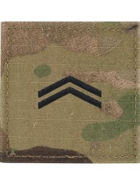 E4 ROTC Corporal OCP Rank with Hook Fastener - Insignia Depot