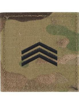 E5 ROTC Sergeant OCP Rank with Hook Fastener - Insignia Depot