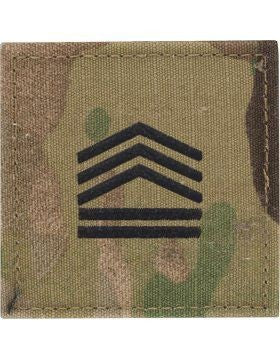 E7 ROTC Sergeant First Class OCP Rank with Hook Fastener - Insignia Depot
