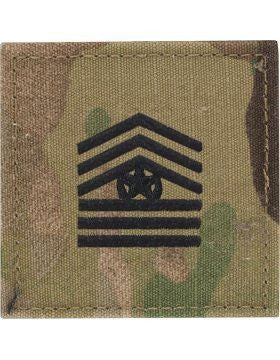 E9-2 ROTC Command Sergeant Major OCP Rank with Hook Fastener - Insignia Depot