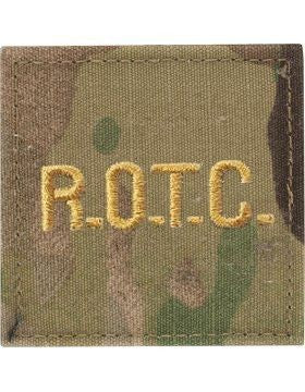 ROTC R.O.T.C. Gold Letters OCP Rank with Hook Fastener - Insignia Depot