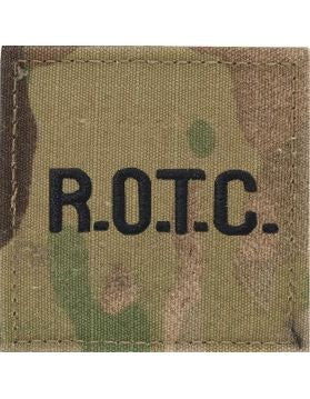 ROTC R.O.T.C Black Letters OCP Rank with Hook Fastener - Insignia Depot