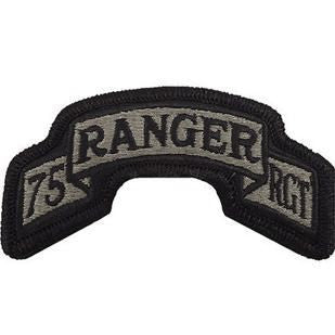 75th Ranger Regiment ACU Scroll with Hook Fastener (pair) - Insignia Depot