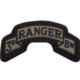 75th Ranger Regiment 3rd Battalion ACU Scroll with Hook Fastener (pair) - Insignia Depot