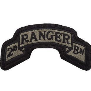 75th Ranger Regiment 2nd Battalion ACU Scroll with Hook Fastener (pair) - Insignia Depot