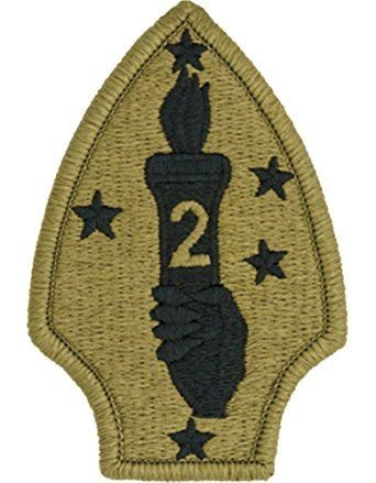 2nd Marine Division OCP Patch with Hook Fastener (pair) - Insignia Depot