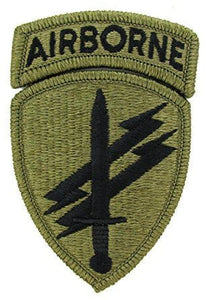 Civil Affairs and Psych Ops with Airborne Tab OCP Patch with Hook Fastener (pair) - Insignia Depot