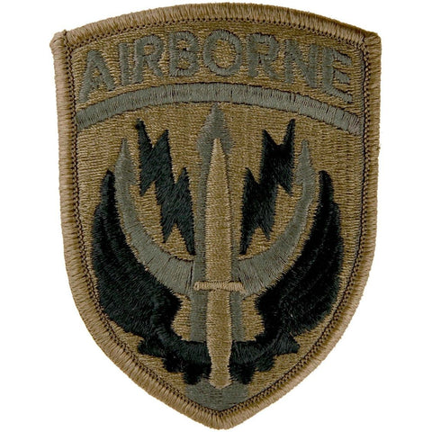 Special Operations Command Central With Brown Border and Airborne Tab OCP Patch with Hook Fastener (pair) - Insignia Depot