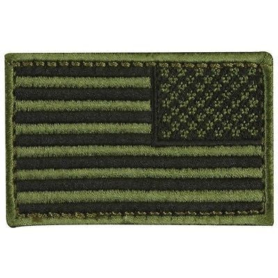 Reverse Olive Drab U.S. Flag With Hook Fastener - Insignia Depot