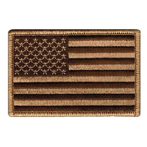 Tan and Black U.S. Flag With Hook Fastener - Insignia Depot