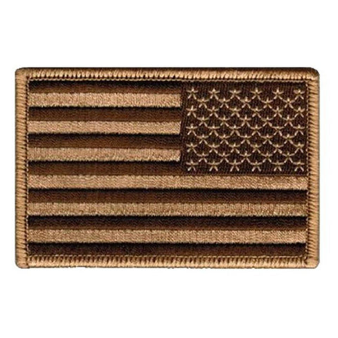 Tan and Black Reverse U.S. Flag With Hook Fastener - Insignia Depot