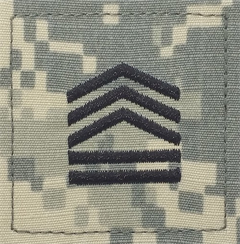 E7 ROTC Sergeant First Class ACU Rank with Hook Fastener - Insignia Depot