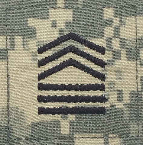 E8 ROTC Master Sergeant ACU Rank with Hook Fastener - Insignia Depot