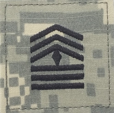 E8-2 ROTC First Sergeant ACU Rank with Hook Fastener - Insignia Depot