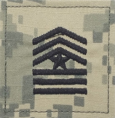 E9 ROTC Sergeant Major ACU Rank with Hook Fastener - Insignia Depot