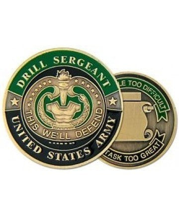 United States Army Drill Sergeant Challenge Coin - Insignia Depot