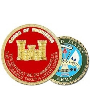 Corps of Engineer Castle Challenge Coin - Insignia Depot