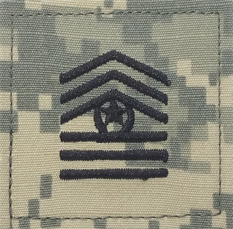E9-2 ROTC Command Sergeant Major ACU Rank with Hook Fastener - Insignia Depot