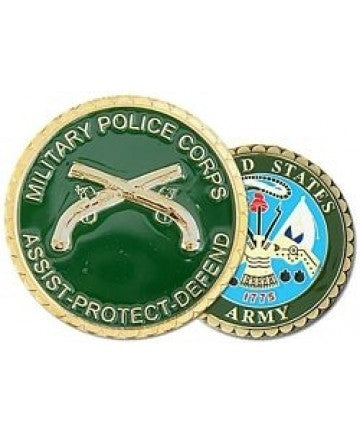 Military Police (MP) Crossed Pistols Challenge Coin - Insignia Depot