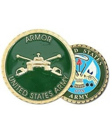 United States Army Armor Challenge Coin - Insignia Depot