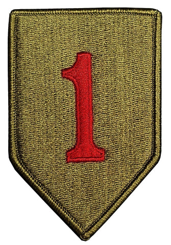1st Infantry Division with Red 1 OCP Patch with Hook Fastener (pair) - Insignia Depot
