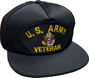 US Army Vet Black Cap w- adjustable strap - Insignia Depot