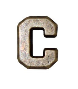 Letter C 1-4in Bronze Ribbon Device - Insignia Depot