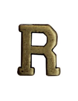 Letter R 1-4in Bronze Ribbon Device - Insignia Depot