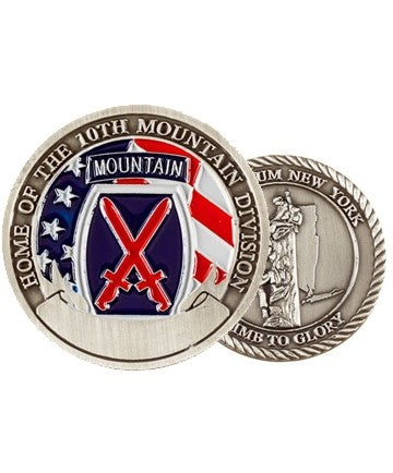 Fort Drum 10th Mountain Challenge Coin - Insignia Depot