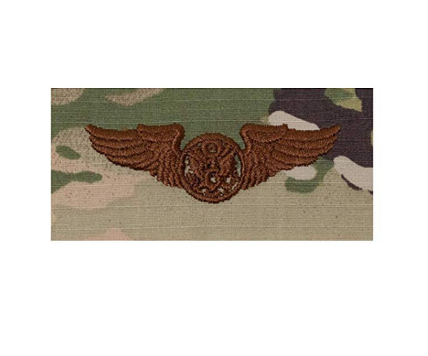 US Air Force Enlisted Aircrew Basic OCP Spice Brown Sew-on Badge - Insignia Depot