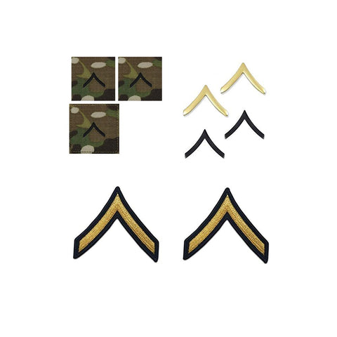 US Army E2 Private Rank Bundle - Insignia Depot