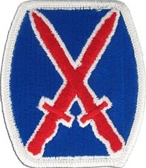 10th Mountain Division Color Sew-on Patch - Insignia Depot