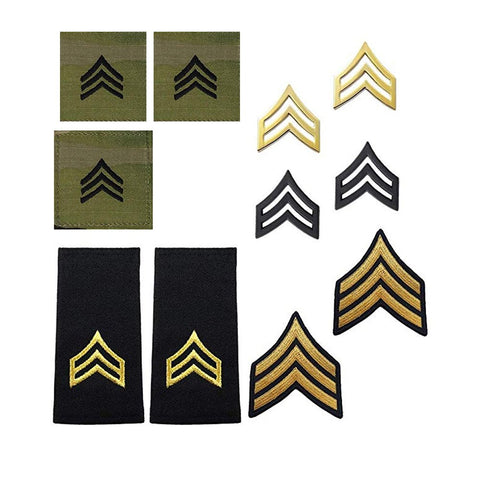 US Army  E5 Sergeant Rank Bundle - Insignia Depot