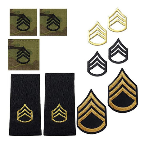 US Army E6 Staff Sergeant Rank Bundle - Insignia Depot
