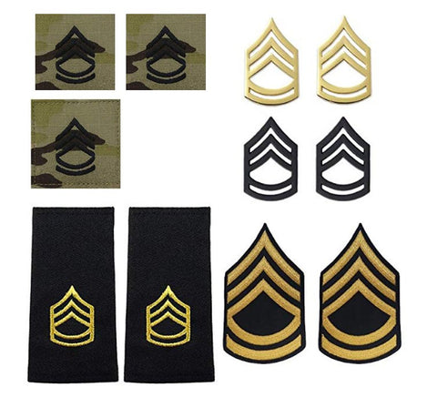 US Army E7 Sergeant First Class Rank Bundle - Insignia Depot