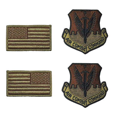 US Air Force Air Combat Command OCP Spice Brown Patch and Flag Bundle - Insignia Depot