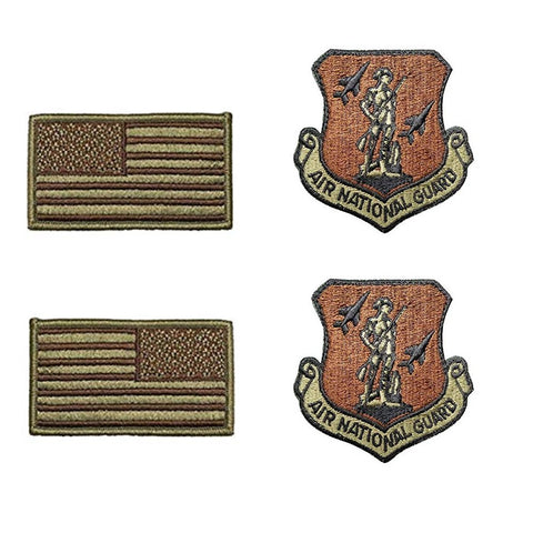 US Air Force Air National Guard OCP Spice Brown Patch and Flag Bundle - Insignia Depot