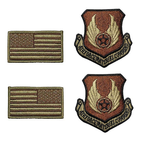 US Air Force Materiel Command OCP Spice Brown Patch and Flag Bundle - Insignia Depot