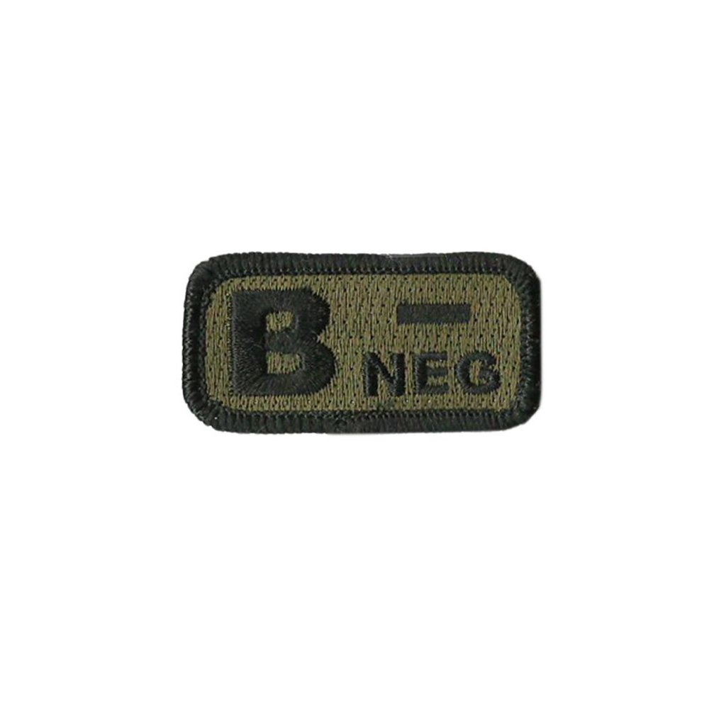 B- Blood Type Forest Patch with Hook Fastener - Insignia Depot