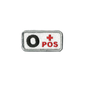 O+ Blood Type Medic Patch with Hook Fastener - Insignia Depot