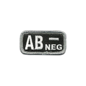 AB- Blood Type Police-Tactical Patch with Hook Fastener - Insignia Depot