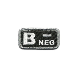 B- Blood Type Police-Tactical Patch with Hook Fastener - Insignia Depot
