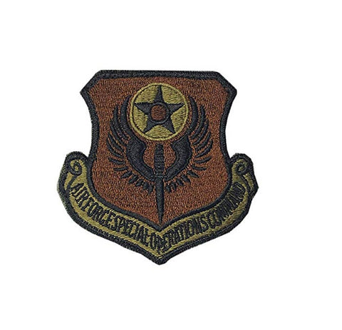 US Air Force Special Operations Command OCP Scorpion Spice Brown Patch with Hook Fastener - Insignia Depot