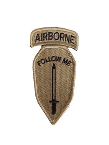 "Infantry School ""Follow Me"" With Airborne Tab OCP Patch with Hook Fastener (Each) - Insignia Depot"