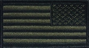 U.S. Flag Reverse Olive Drab OD Subdued with Black Border Sew-on Patch - Insignia Depot